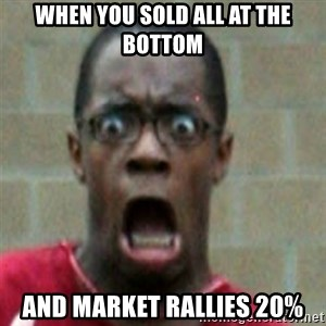 SCARED BLACK MAN - when you sold all at the bottom and market rallies 20%