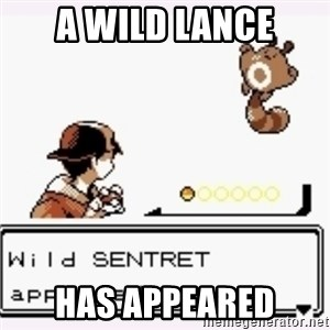 a wild pokemon appeared - A Wild Lance Has appeared
