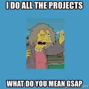 crazy cat lady simpsons - I do all the projects What do you mean GSAP