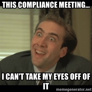 Nick Cage - this compliance meeting... i can't take my eyes off of it