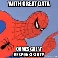 Spiderman - with great data comes great responsibility