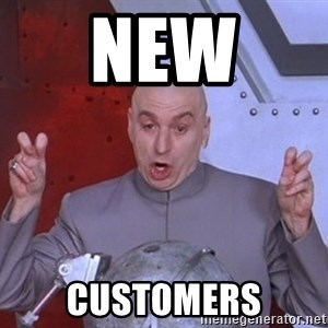 Dr. Evil Air Quotes - new  customers