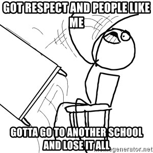 Desk Flip Rage Guy - got respect and people like me gotta go to another school and lose it all