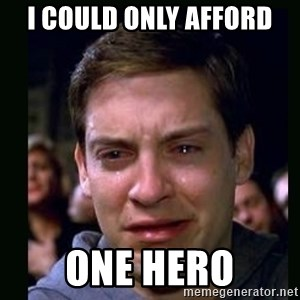 crying peter parker - I COULD ONLY AFFORD ONE HERO