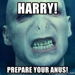 Angry Voldemort - Harry!  Prepare your anus!