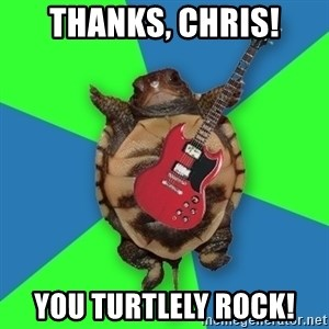 Aspiring Musician Turtle - thanks, chris! you turtlely rock!