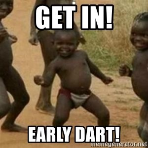 Black Kid - GET IN! Early dart!