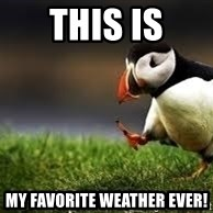 Unpopular Opinion - This is My favorite weather ever!