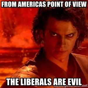 Anakin Skywalker - From Americas point of view the liberals are evil