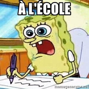 Spongebob What I Learned In Boating School Is - à l'école