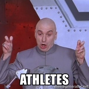 Dr. Evil Air Quotes - Athletes