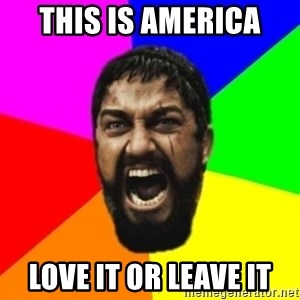 sparta - this is america love it or leave it