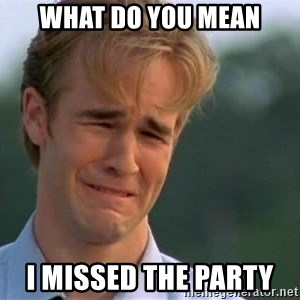 James Van Der Beek - What do you mean I missed the party