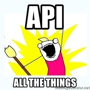 All the things - API all the things