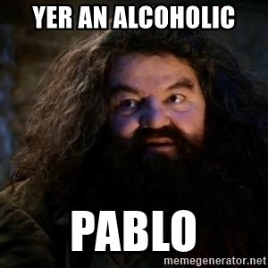 Yer A Wizard Harry Hagrid - Yer an Alcoholic Pablo