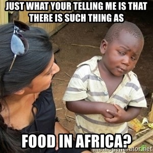 Skeptical 3rd World Kid - just what your telling me is that there is such thing as food in africa?