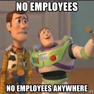 Buzz - no employees no employees anywhere