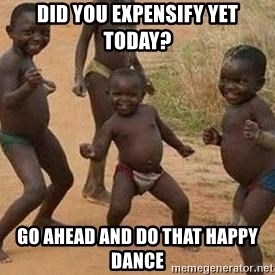 african children dancing - Did you Expensify yet today? Go ahead and do that happy dance