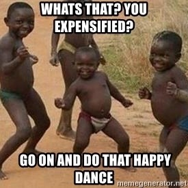 african children dancing - Whats that? You Expensified?  go on and do that happy dance