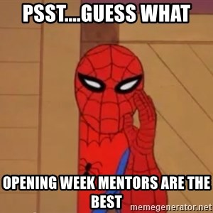 Spidermanwhisper - psst....Guess what Opening Week Mentors are the best