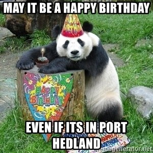 Happy Birthday Panda - May it be a Happy Birthday Even if its in Port Hedland