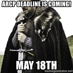 Sean Bean Game Of Thrones - ARCP deadline is coming!  May 18th