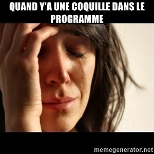 crying girl sad - Quand y'a une coquille dans le programme