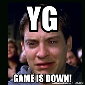 crying peter parker - YG Game is down!