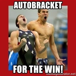 Ecstatic Michael Phelps - AUTOBRACKET FOR THE WIN!