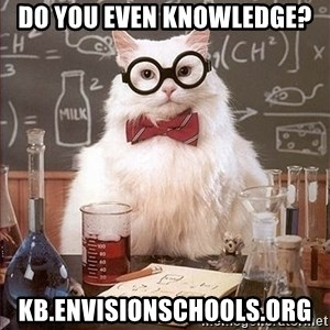 Science Cat - Do you even Knowledge? kb.envisionschools.org