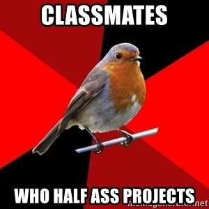 Retail Robin - Classmates Who half Ass projects