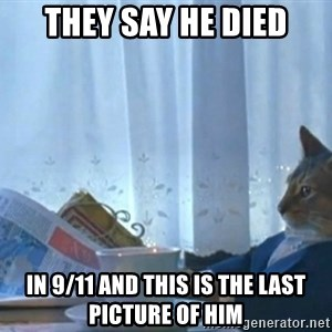 Sophisticated Cat - they say he died in 9/11 and this is the last picture of him