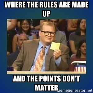 drew carey - where the rules are made up and the points don't matter