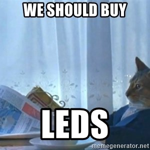 newspaper cat realization - We should buy LEDs