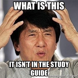 Confused Jackie Chan - What is this It isn't in the study guide