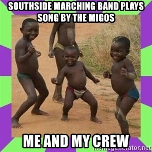 african kids dancing - southside marching band plays song by the migos me and my crew