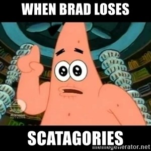 ugly barnacle patrick - WHEN BRAD LOSES SCATAGORIES