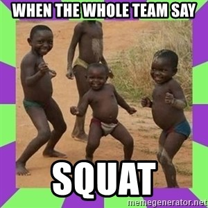 african kids dancing - When the whole team say SQUAT