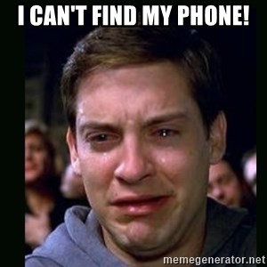 crying peter parker - I CAN'T FIND MY PHONE!