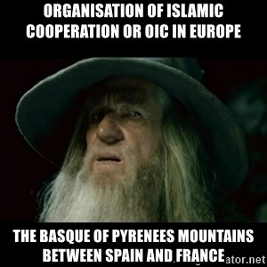 no memory gandalf - Organisation of Islamic Cooperation or OIC in Europe  The Basque of Pyrenees Mountains between Spain and France