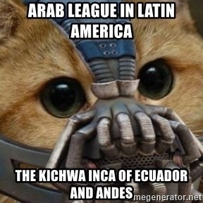 bane cat - Arab League in Latin America  The Kichwa Inca of Ecuador and Andes