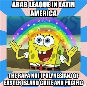 Spongebob Imagination - Arab League in Latin America  The Rapa Nui (Polynesian) of Easter Island Chile and Pacific