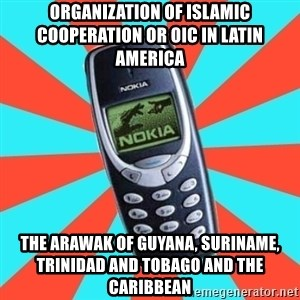 NOKIA 3310CHUCK2 - Organization of Islamic Cooperation or OIC in Latin America  The Arawak of Guyana, Suriname, Trinidad and Tobago and the Caribbean