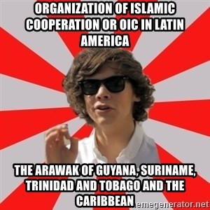 One Does Not Simply Harry S. - Organization of Islamic Cooperation or OIC in Latin America  The Arawak of Guyana, Suriname, Trinidad and Tobago and the Caribbean