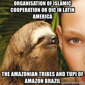 Whisper Sloth - Organisation of Islamic Cooperation or OIC in Latin America  The Amazonian Tribes and Tupi of Amazon Brazil