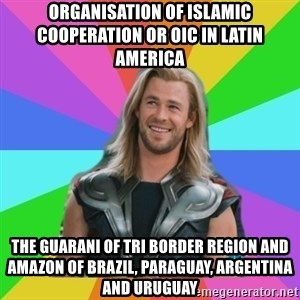 Overly Accepting Thor - Organisation of Islamic Cooperation or OIC in Latin America  The Guarani of Tri Border Region and Amazon of Brazil, Paraguay, Argentina and Uruguay