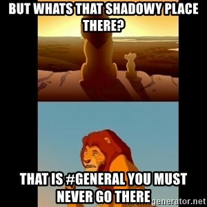 Lion King Shadowy Place - but whats that shadowy place there? that is #general you must never go there