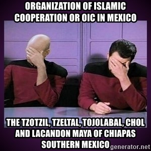 Double Facepalm - Organization of Islamic Cooperation or OIC in Mexico  The Tzotzil, Tzeltal, Tojolabal, Chol and Lacandon Maya of Chiapas Southern Mexico