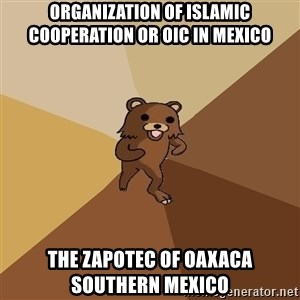 Pedo Bear From Beyond - Organization of Islamic Cooperation or OIC in Mexico  The Zapotec of Oaxaca Southern Mexico