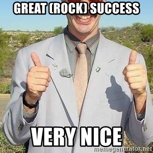 borat - Great (Rock) Success very nice